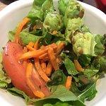 Menü-Salat zum Curry. Leider ohne Saucen-Wahl