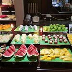 If you are a fruit person, you have come to the right place. a dozen types served each morning