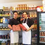 Imported top quality groceries and Fresh Sausage made daily by us
