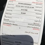 150 dirhams fine for using the parking!