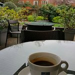 Great chill out in a lovely garden to take coffee fantastic