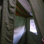 Indoor camp shower
