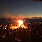 Hula Hoop Girls with grand Bon Fire