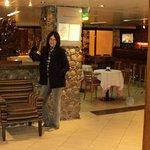 lobby del hotel, muy lindo y tradicional