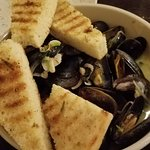 such great flavor in the mussels - and love that it came with enough dipping bread