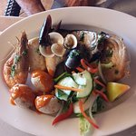 Mixed fish grill - seafood, tuna, swordfish, etc