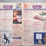 Cool 60s menu
