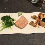 terrine de foie gras,mousse d'artichaut