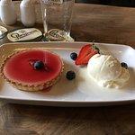 Well presented dessert