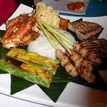 Indonesian seafood platter