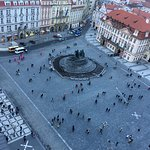 Old Town Sq w monument from the Tower