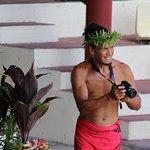 Mariage Polynésien : ... et même le photographe (rencontre indispensable avec cette belle person