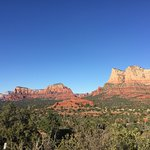 View of Uptown Sedona from Bell Rock.