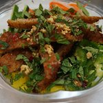 """A Nuoc Cham bowl - Crunchy, Spicy, Umami just like """"The Owner"""""""