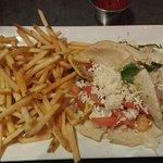 Fries and Shrimp Tacos