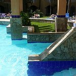 the largest pool - huge with interesting features