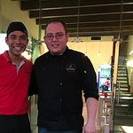 Chef that made our yummy meal, and Pedro the wonderful waiter that served us