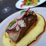 Wagyu beef shortrib on mashed potatoes