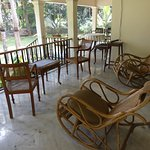 The veranda seating outside the two en suite rooms