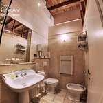 Private ensuite bathroom with shower and hairdryer
