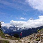 Walking around the Alpine garden at the top.