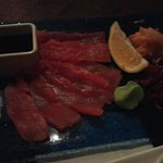 Sashimi (raw fish...tuna)