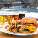 Burger, Local Draft Beers, Local Laws Apply