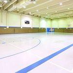 Full-size basketball court