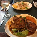 The Lamb with Yorkshire Pudding (and smushed peas:-)