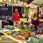 The Easter Brunch Buffet 2016 at The Boars Head Reastaurant in Panama City Beach.