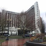 View of hotel from Tom McCall Waterfront Park