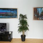 Two original paintings of Torpnto by Alex Krajewski at their new home in Toronto