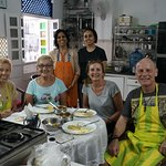 Barbara, Karen, Clare and me, with Sushma and her daughter behind
