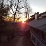 Morning sunrise from outside bunk 13