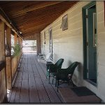 The upstairs veranda for our Lodge Room Guests