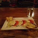 Caprese salad with homemade mozzarella cheese