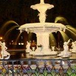 the fountain at Forsythe Park
