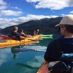 Remando en el lago Krugger