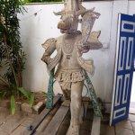 Interesting sculptures abound