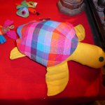 Turtle made of handloomed textiles