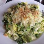 Caesar salad, anchovy dressing - yummy.