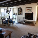 The restful casita offers a well appointed desert get-away environment, including fireplace.