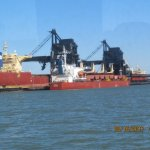 Ship loading Coal for overseas transport