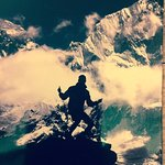 Top of Kala Pattar in 1985. Photo taken by my cousin Joel