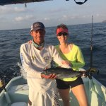 Trip of a lifetime with Jesus! Caught Skip Jacks and 1 Huge Blue Marlin. 1:45hr fight! Had to ta