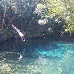 simming in the lagoon