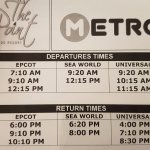The shuttle schedule during our stay! This does change every once in a while though.