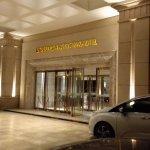 Main entrance to hotel lobby