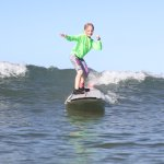 My 7 year old enjoying Waves Surf School