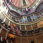Inside the Rotunda where we purchased Arch tickets.